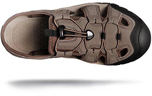 ATIKA AT-M108-CBN_Men 9 D(M) Men's Sports Sandals Trail Outdoor Water Shoes 3Layer Toecap M108 by ATIKA (Image #6)