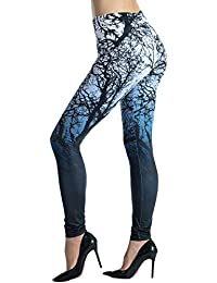 Women's Printed Leggings Full-Length Regular Size Yoga...