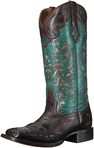 Lucchese Womens Shoes Casual - Lucchese Bootmaker Women's Sherilyn Western Boot Chocolate/Turquoise 9 C US