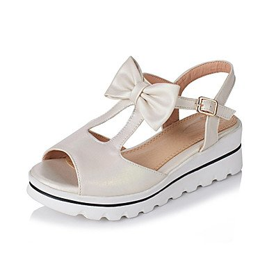 Zormey Sandalias De Mujer Zapatos Primavera Verano Otoño Club Comfort Novedad Materiales Personalizados Parte Exterior De Piel Sintética &Amp; Traje De Noche Casual Talón Plano US5.5 / EU36 / UK3.5 / CN35