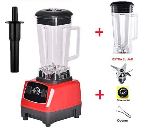2200W 2L Commercial Grade Home Professional Smoothies Power Blender Food Mixer Juicer Food Fruit Processor,Red 2L Jug 3 Parts,Us Plug