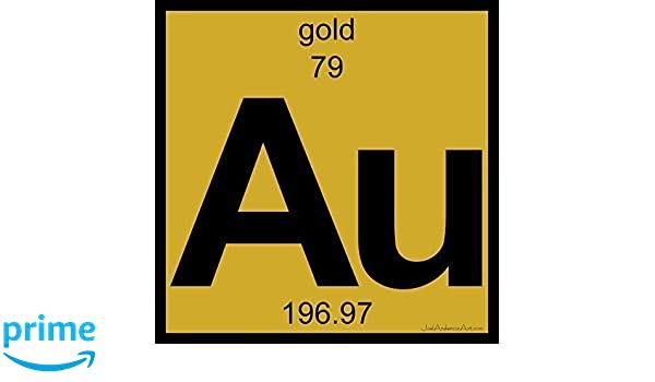 Amazon au gold art tile print of periodic table elements amazon au gold art tile print of periodic table elements handmade urtaz Gallery