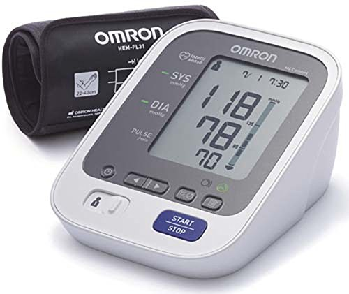 Omron M6 Bp Level Indicator Heartbeat Detector Easy Read Blood Pressure Monitor by Omron