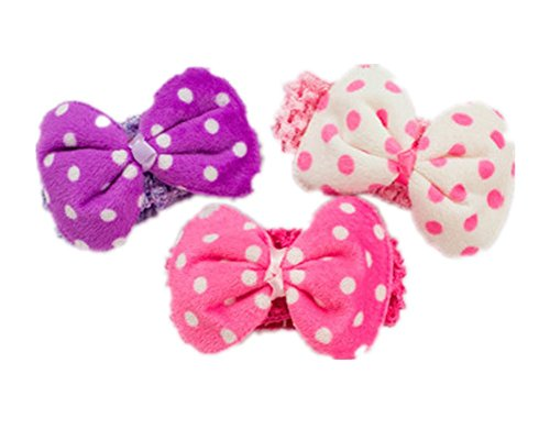 Fully 3x Dog Baby Headdress Head Bow Band Topknot Grooming Hair Accessory Necktie Pet Cats S (Color Random) - Famous Costume Designer For Movies