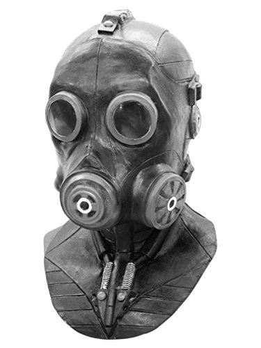 Deluxe Full Face Smoke Gas Mask Latex Costume Mask Adult Size -