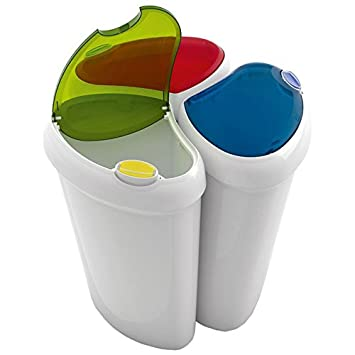 Set 3 pattumiere componibili in plastica lotus 90 lt ebay for Contenitori raccolta differenziata brico
