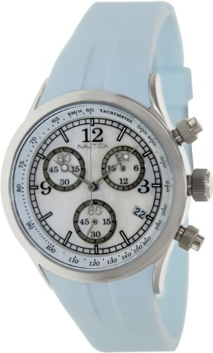 Nautica Women's Sport A17537L White Resin Quartz Watch