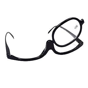 LABANCA Makeup Glasses Folding Makeup Magnifier Reading Eyewear Eyeglasses Black 250 Degree