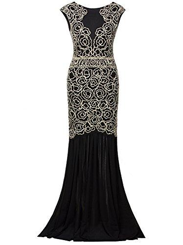 Vijiv Women's Long Roaring 20's Dresses Plus Size