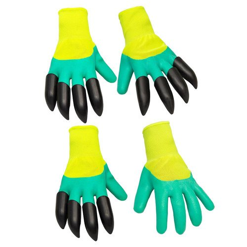 Beles Garden Genie Gloves Quick & Easy to Dig and Plant Safe for Rose Pruning, Digging & Planting Nursery Plants - As Seen On TV (2 pair)