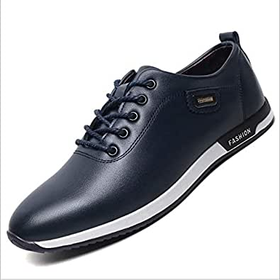 Fashion Dark Blue Lace Up Shoes For Men