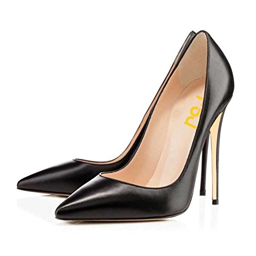 inted Toe High Heels Evening Dress Pumps Slip On Stilettos Formal Office Shoes Size 8 Black ()