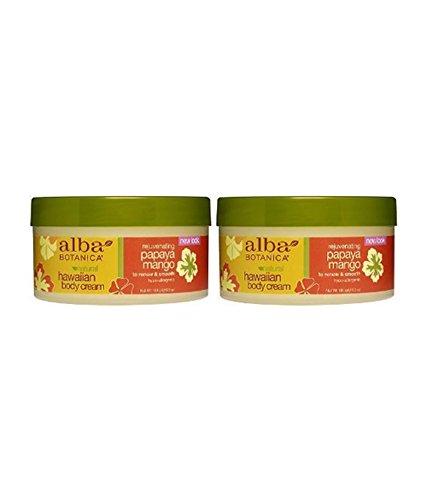 Alba Botanica Papaya Mango Body Cream, 6.5-Ounce Jar