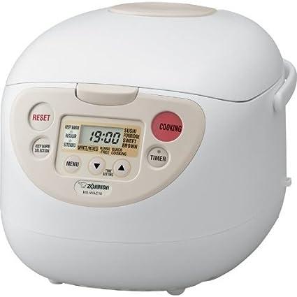 amazon com zojirushi ns wac10wb fuzzy logic 5 5 cup rice cooker and rh amazon com Rice Cooker Recipes Cooker Rice Zoijurushi