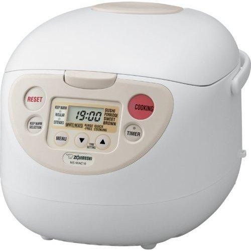Zojirushi NS-WAC10WB Fuzzy Logic 5.5-Cup Rice Cooker and Warmer