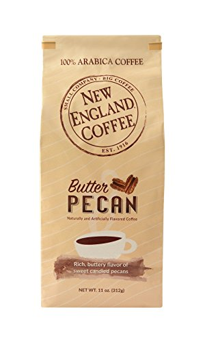 (New England Coffee Butter Pecan Ground Coffee, 11 Ounce)