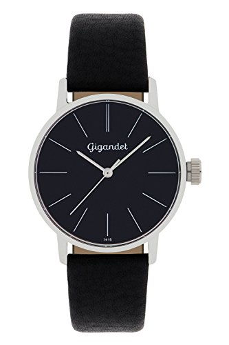 Gigandet Women's Quartz Watch Minimalism Analog Leather Strap Black G43-002