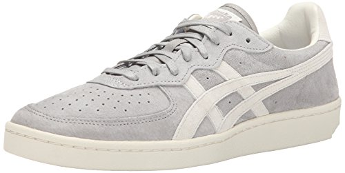 Onitsuka Tiger GSM Tennis Shoe, Light Grey/Off White, 9 M