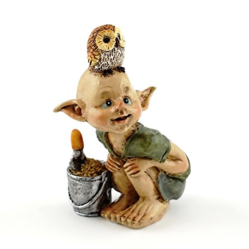 (Top Collection Miniature Fairy & Terrarium Garden Pixie Gardening Statue with Shovel & Bucket, Small)