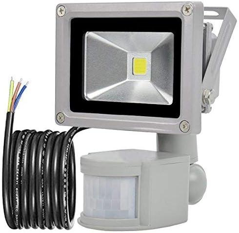 GLW 10W Foco LED con Sensor Movimiento,blanco frío 6000K,240V ...