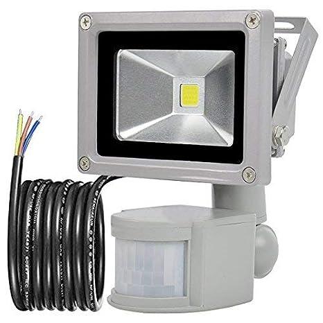 GLW 10W Foco LED con Sensor Movimiento,blanco frío 6000K,240V,Línea de