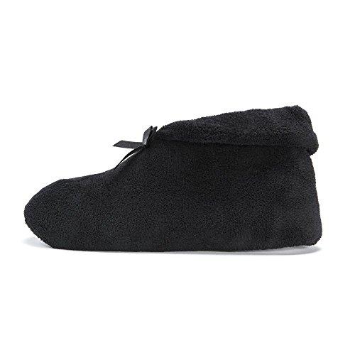 Muk Luks Zapato De Mujer Micro Chenille Slipper Negro