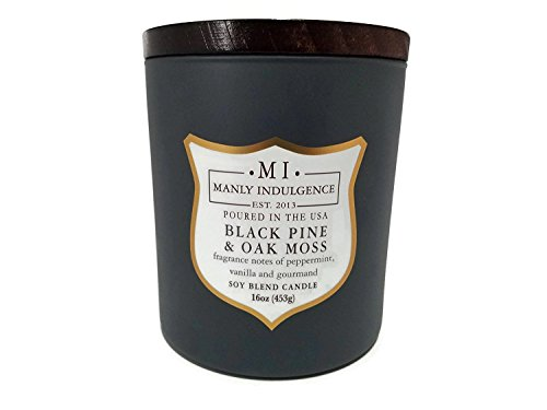 Manly Indulgence Black Pine & Oak Moss Soy Blend Candle...