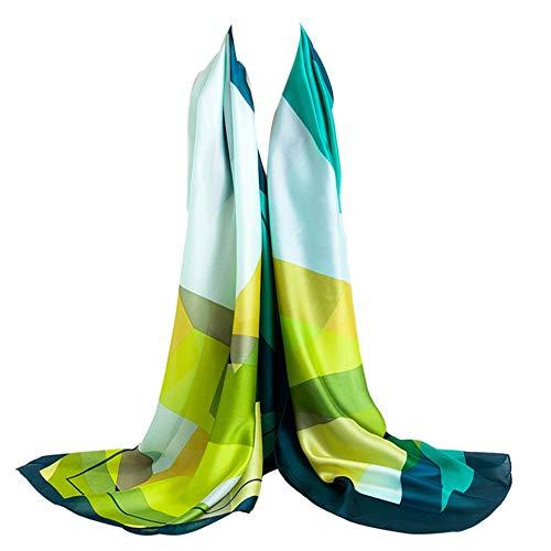 Bellonesc Silk Scarf 100% silk Long Lightweight Sunscreen Shawls for Women (mix19)