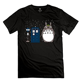 Men doctor who telephone box neighbor totoro t for Amazon custom t shirts