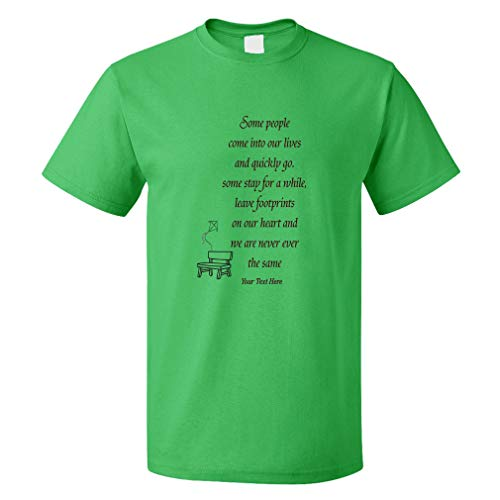 Custom Funny Graphic T Shirts for Men Chair&Kite Memorial Some People... Cotton Personalized Top Kelly Green Large