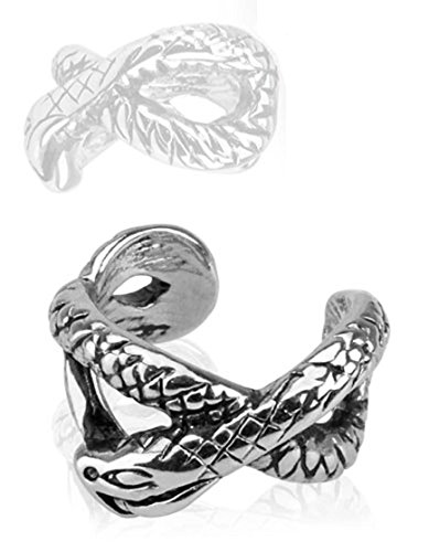Snake Design Non Piercing Ear Cuff (Sold by - Ear Cuffs Snake