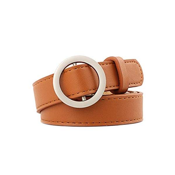 Firally Hot sale Cintura Donna Fibbia Tonda Senza Fibbia 105CM Stile Casual Dimensioni Regolabili Elastica Cintura in… 1 spesavip