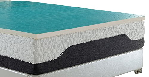 AmericanMade DreamDNA Twin 12 Inch Thick Mattress With 4 Gel Infused Visco Elastic Memory Foam