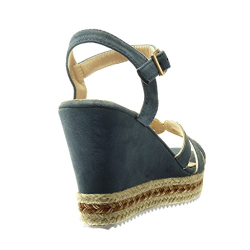 Femme Chaussure Plateforme Espadrille Sandale Mode Angkorly Lanière aOxqTRUxwX