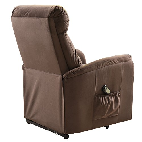 COLIBROX--Electric Lift Chair Recliner Reclining Chair Remote Living Room Furniture New. lift recliners for elderly. lift chair recliner medicare. electric recliner chair. amazon power recliners. by COLIBROX (Image #5)