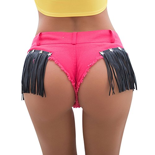 stelle glutei jeans FANG QI nappa Donna Pink di Pantalone Size Pink Cotone Reveal M Pantaloncini BUSINE Color Pantaloncini SYXqP