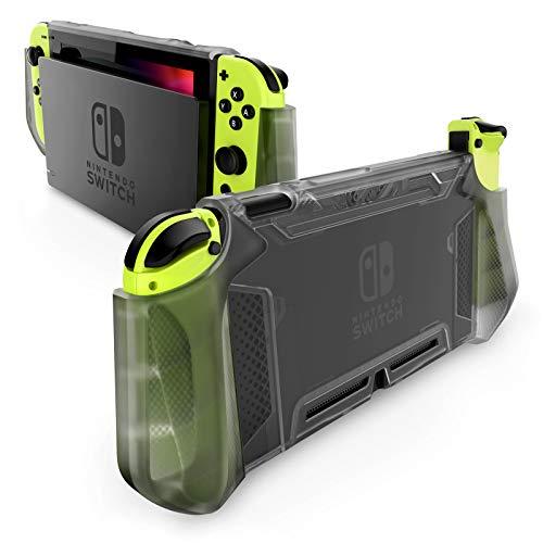 Funda para Nintendo Switch y control Joy-con negra trasnluci