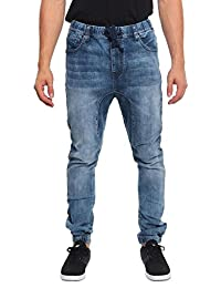 Victorious Men's Jogger Denim Pants JG803 - DARK INDIGO