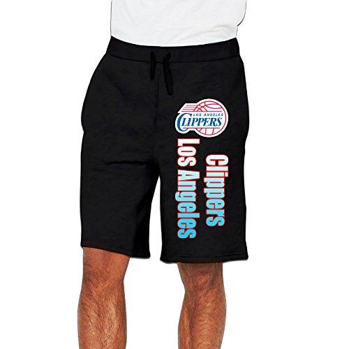 Men's Los Angeles Clippers Logo Cotton Short Racing Pants Black US Size 3X