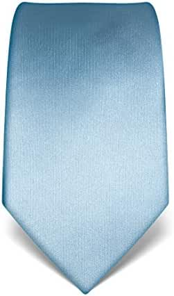 Vincenzo Boretti Men's Silk Tie - plain colored - many colors available