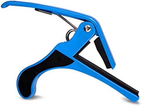 PIXNOR Guitarra acústica Capo Tune cambio rápido gatillo Capo para guitarra eléctrica (azul)