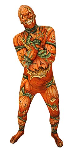 Morphsuits Men's Lanten Costume Pumpkin, Jack O Lantern, Large