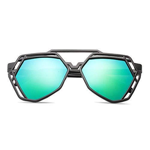 élégant nouveau personnalisé des lunettes de soleil mesdames les lunettes de soleil les lunettes de marée star hommes visage rond korean les yeuxboîte noire green film (sac) dPbgYhdcr0