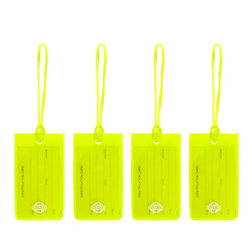 Globite Luggage Tags 4 Pack (Green)