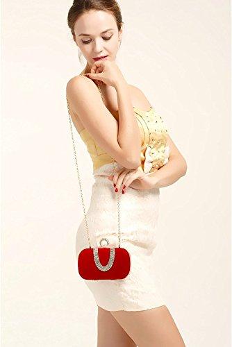 De Sac Le KLXEB Main Poignée Paquet Package Petit Paquet D'Eau Partie De Femmes Le Dîner Style Bagues Forage Paquet À Contre rouge Paquet 1zOAq