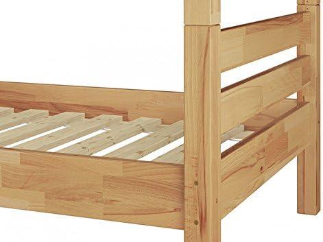 Erst-Holz Solido Letto a Castello 90x200 in Faggio Anche per Adulti con doghe rigide 60.17-09