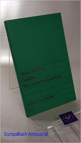 Gedichte Wie Entsteht Ein Gedicht Edition Suhrkamp Nr 83