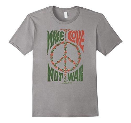 Peace Not War Vintage T-shirt (Men's Make Love Not War Peace Vintage T- Shirt Medium Slate)