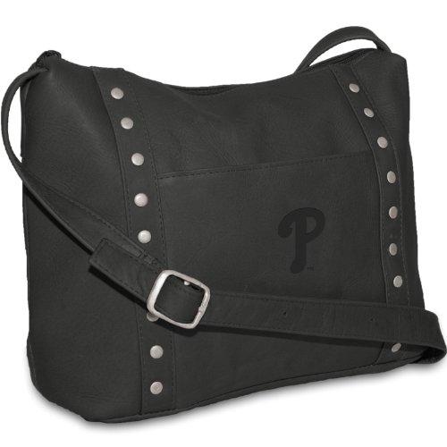 Baseball Philadelphia Phillies Leather (MLB Philadelphia Phillies Black Leather Women's Top Zip Handbag)
