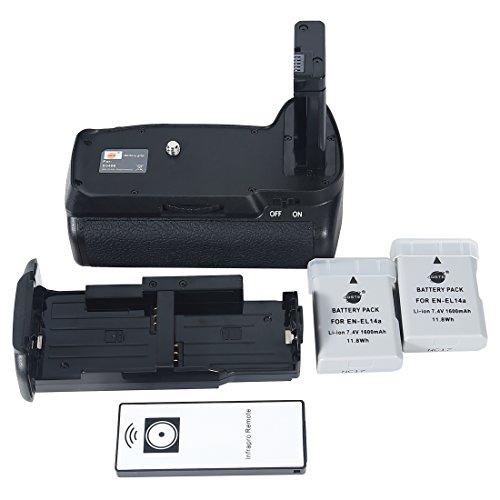 DSTE Pro IR remote MB-D3400 Vertical Battery Grip + 2x EN-EL14 EN-EL14a for Nikon D3400 SLR Digital Camera